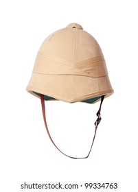 traveler's cork helmet. explorer hat. Isolated on white background.