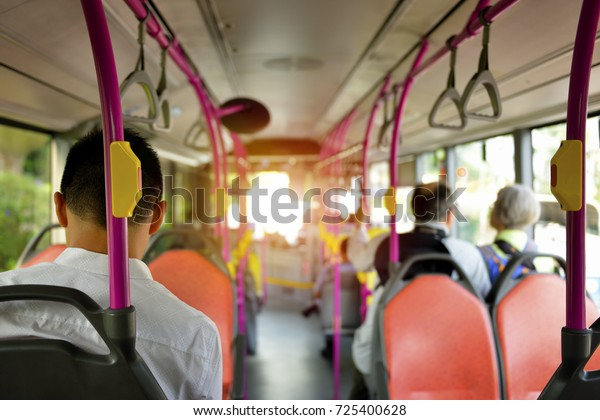 Traveling by public bus