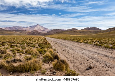 Traveling by road in the valley to the mountains, Bolivia, South America