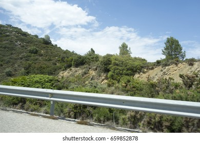 Traveling with the car in Castellon, Spain
