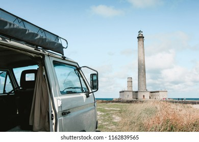 traveling europe by campervan, normandy, france