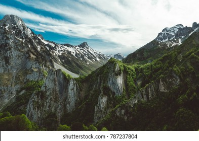 Traveling holiday vacation  view hiking mountain Pyrenees landscape  outdoor Europe nature life sky