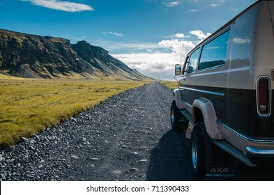 Traveling in Iceland in a 4*4 truck.