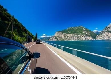 traveling through the Italian adventure and beautiful country near lago di Garda