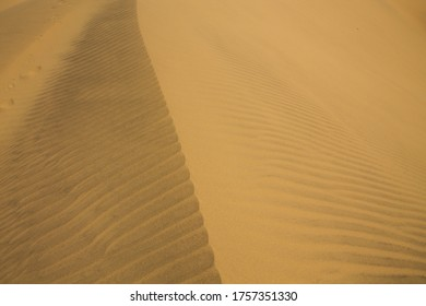 Traveling through Venezuela, magnificent mountains of clear sand in its dunes of Coro in the Falcón state
