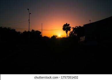 Traveling through Venezuela, sunrise in dunes of Coro in the Falcón state