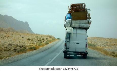 Travelling Morocco, Transportation, Roads in the desert.