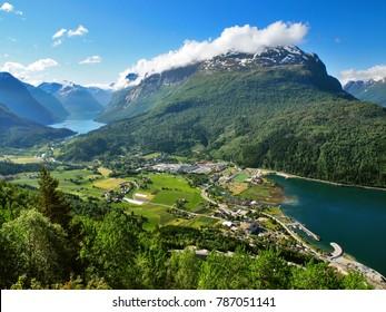 Travelling in Norway Loen, Nordfjord - The view from the Loen Skylift (Via ferrata in Loen)