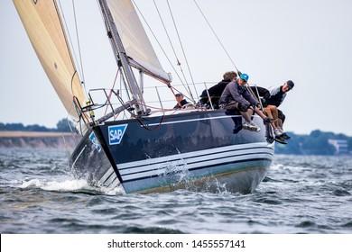 Travemuende, Germany - July 28 2018 Sailing week in Travemuende Germany