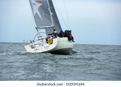 Travemuende, Germany - July 28, 2018 Sailing week in Travemuende Germany
