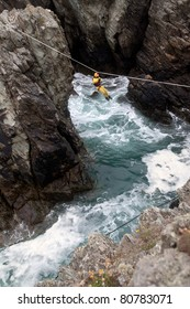 Traverseers are people who traverse along the edge of the sea using the rock faces The Range Isle of Anglesey