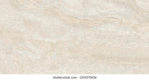 travertine italian exotic marble background modern interior, ivory emperador quartzite marbel surface, close up Beige Marfil glossy wall tiles, polished limestone granite slab called Travertino.