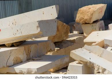Travertine stones. Travertine