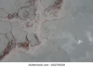 Travertine texture, Pamukkale Denizli Turkey Thermal Travertines
