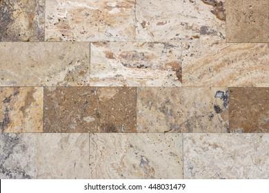 Travertine tile, brick building material color up