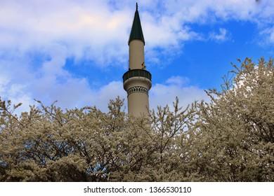 Travnik 04.04.2019 minaret of the mosque