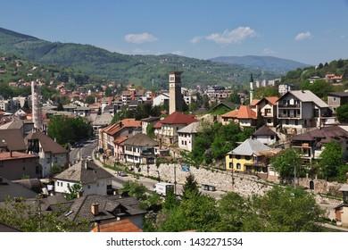 Travnik / Bosnia and Herzegovina - 28 Apr 2018: The view on Travnik, Bosnia and Herzegovina