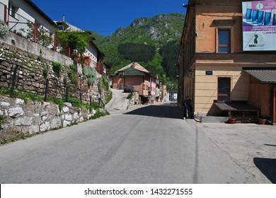 Travnik / Bosnia and Herzegovina - 28 Apr 2018: The street in Travnik, Bosnia and Herzegovina