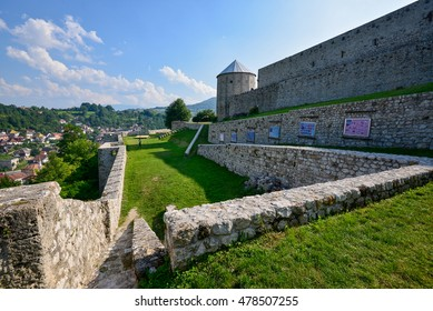 Travnik, Bosnia and Herzegovina - August 10, 2016: A historical fortress build during Ottoman period still in good shape located in Travnik, Bosnia and Herzegovina.