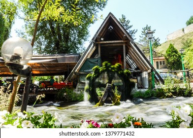 TRAVNIK , BOSNIA AND HERZEGOVINA - July 21,2017 : Ottoman architecture still exists in the Bosnian royal town Travnik