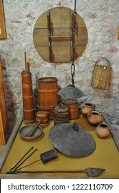 Travnik Bosnia October 9th 2015 old home equipment and tool in the museum