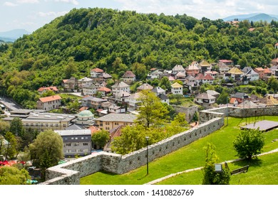 Travnik,BiH, 25.05.2019  View from the tower on the historic part of Travnik.
