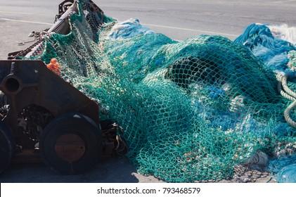Trawl net for bottom trawling - Barfleur, France