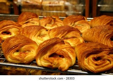 A tray of danish pastries...
