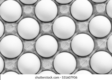 Tray of eggs.