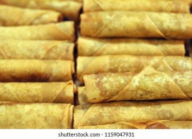 tray of filipino lumpia eggrolls