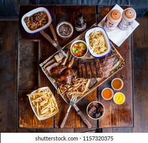 The tray of meat