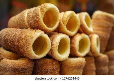 Trdelnik is a famous traditional food in Prague