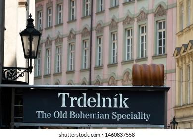 Trdelnik traditional chimney sweet of Prague Czech Republic