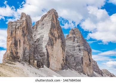 Tre Cime di Lavaredo in the Dolomites, Italy.