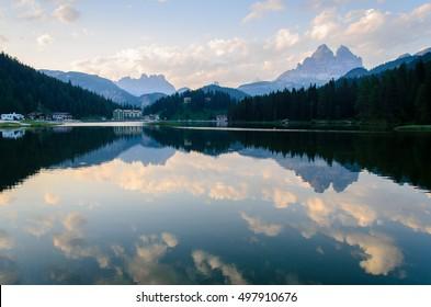 Tre Cime di Lavaredo from Misurina Lake