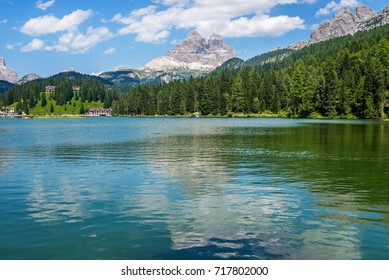 Tre Cime di Lavaredo and Misurina lake