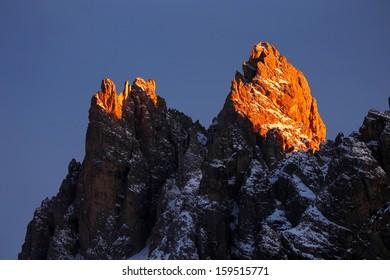 Tre Cime di Lvaredo, the Dolomites, Italy - sunset light