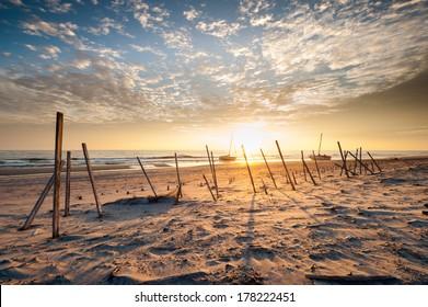 Treacherous Coastline North Carolina Outer Banks Beach Sunrise
