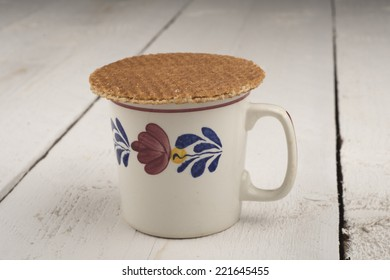 treacle wafers on a mug