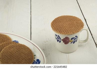 treacle waffle on a mug