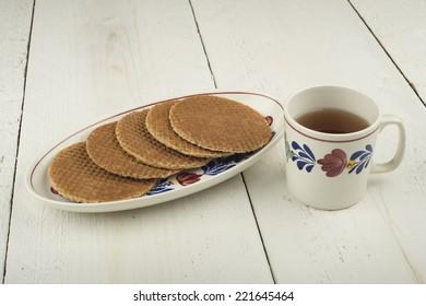 treacle waffles and a mug of tea