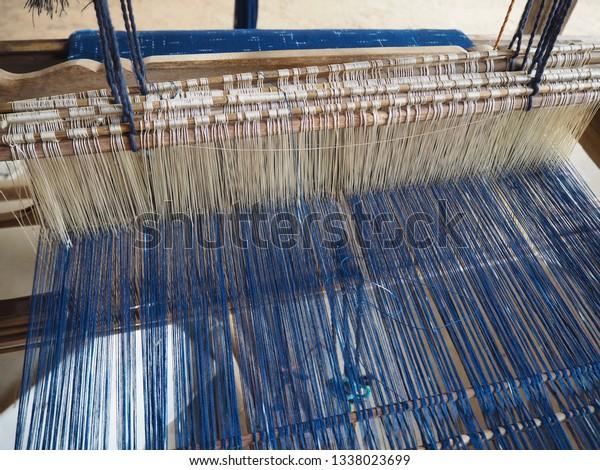 Tread Element Natural Indigo Dye Cotton Stock Photo (Edit