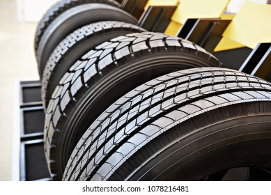 Tread pattern on a wheelbarrow tire truck in store