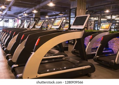treadmill concept for exercising, fitness and healthy lifestyle