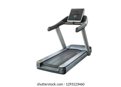 Treadmill in the gym, isolated on white background with clipping path.