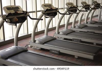 Treadmills in the health club
