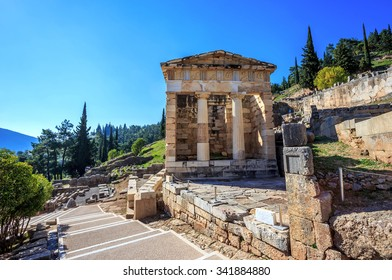 treasure of Athenians in Ancient Delphi