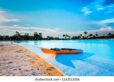 Treasure Bay, the biggest salt water pool in ASIA is in bintan island