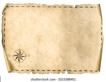 treasure blank map isolated background 3d illustration