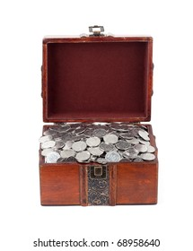 Treasure Chest. Isolated on a white background